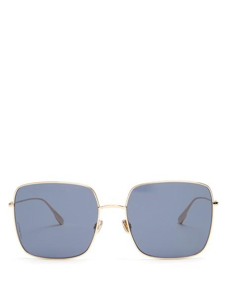 dior sunglasses gold blue