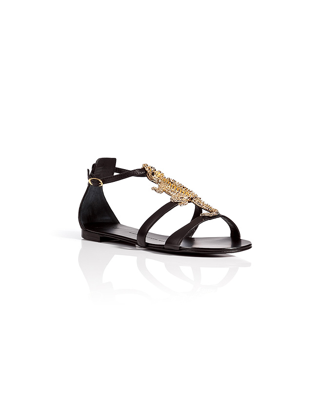 Leather Sandals with Embellished Front from GIUSEPPE ZANOTTI | Luxury fashion online | STYLEBOP.com