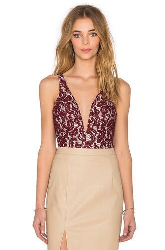 bodysuit lace bodysuit lace burgundy