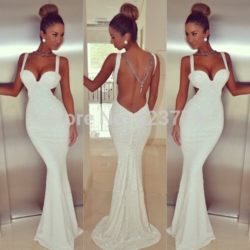 Aliexpress.com : Buy Sparkly Low Back Straps Sweetheart Vestidos De Fiesta Long Sequins Backless Mermaid Prom Dresses 2014 from Reliable dress tulip suppliers on 27 Dress