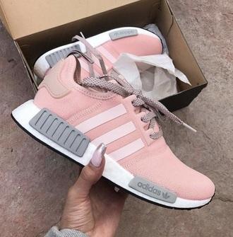 shoes adidas adidas nmd pink grey adidas shoes