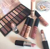 make-up,mac cosmetics,lipstick,nyx,eye shadow,makeup palette,autumn make-up palette,eye makeup,make up case