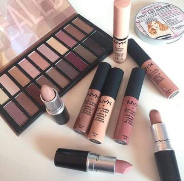 make-up mac cosmetics lipstick nyx eye shadow makeup palette autumn make-up palette eye makeup make up case