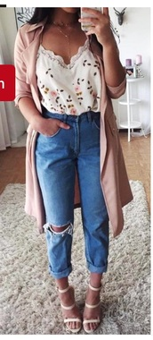 top,floral tank top,tank top,fashion,floral,blouse,jewels,necklace,jewelry,choker necklace,layered,accessories,Accessory,gold choker,lariat necklace,gold,gold necklace,coat,shirt,jeans,sleeveless,mom jeans,ripped jeans,blue jeans,light washed denim