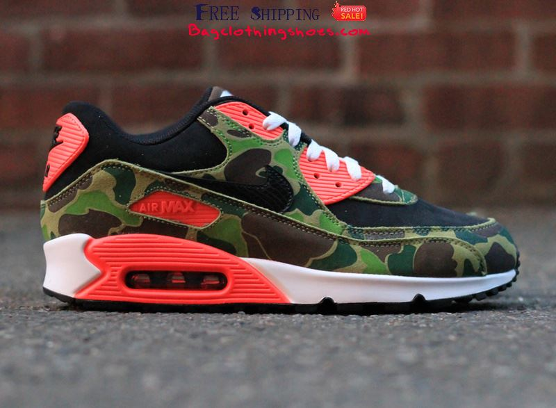 new product c54cb 37309 atmos x Nike Air Max 90 Camo Pack Green Running Shoes