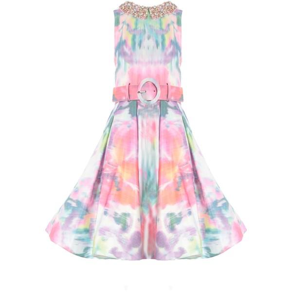 alice   olivia Lollie Pleated Skirt Embellished Dress - Polyvore