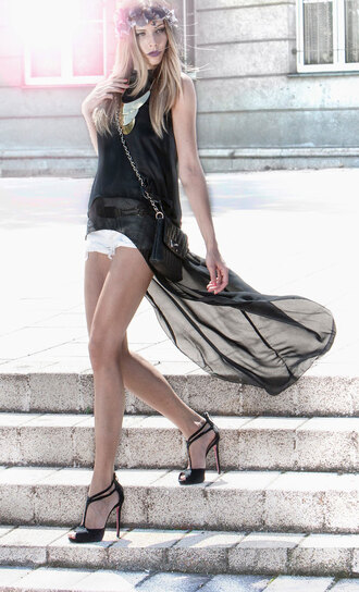 dress flowy chiffon summer spring shirt black sexy fashion style shoes