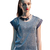Glitter T-Shirt in Silver - TOPS - Asia Fashion Inc - Shop Asia's Finest Designer Brands -