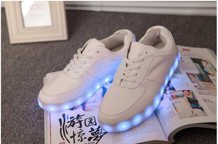 2014 new specials hot selling casual shoes simulation led luminous shoes sneakers led light shoes 7 color led luminous shoes