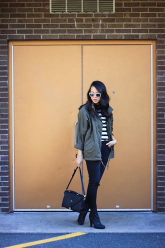 refined couture blogger top jeans bag shoes sunglasses