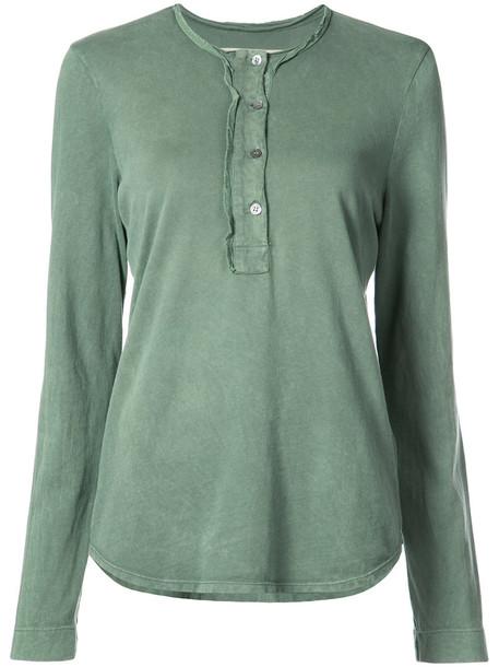 Raquel Allegra blouse women cotton green top