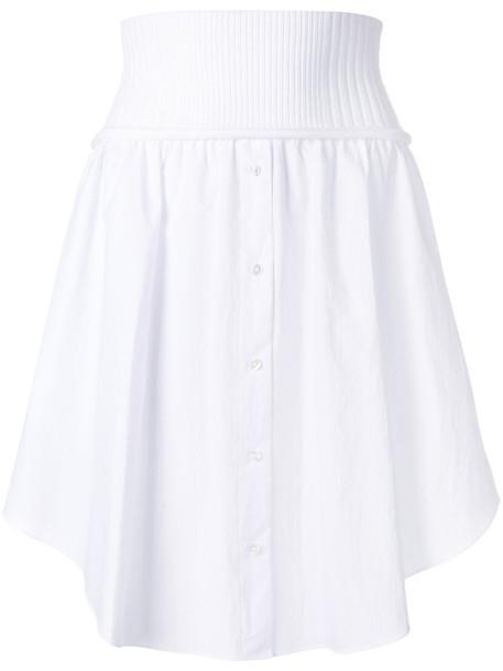 skirt button up skirt women white cotton
