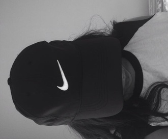 hat nike hat tumblr nike black cap