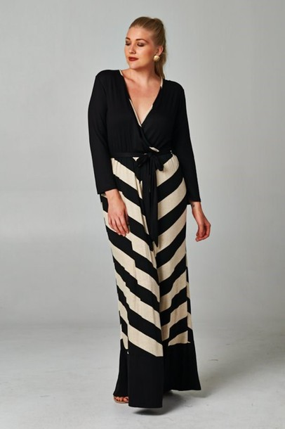 dress, plus size striped color block maxi dress, plus size, plus ...