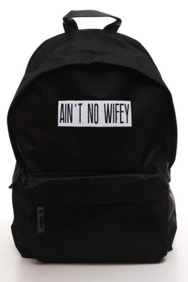 bag backpack teeisland swag hipster hipsta uk usa europe geek aint no wifey