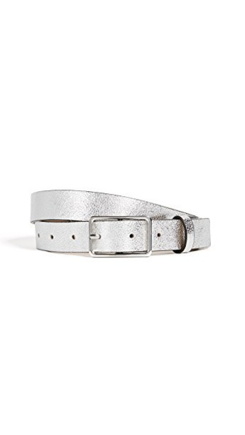 Rebecca Minkoff belt silver