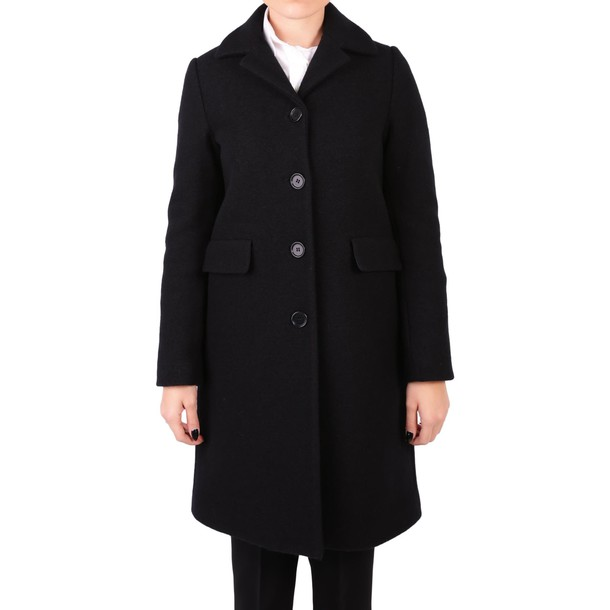 ASPESI coat wool coat wool black