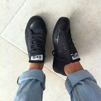 shoes black converse converse black boyfriend jeans chuck taylor all stars