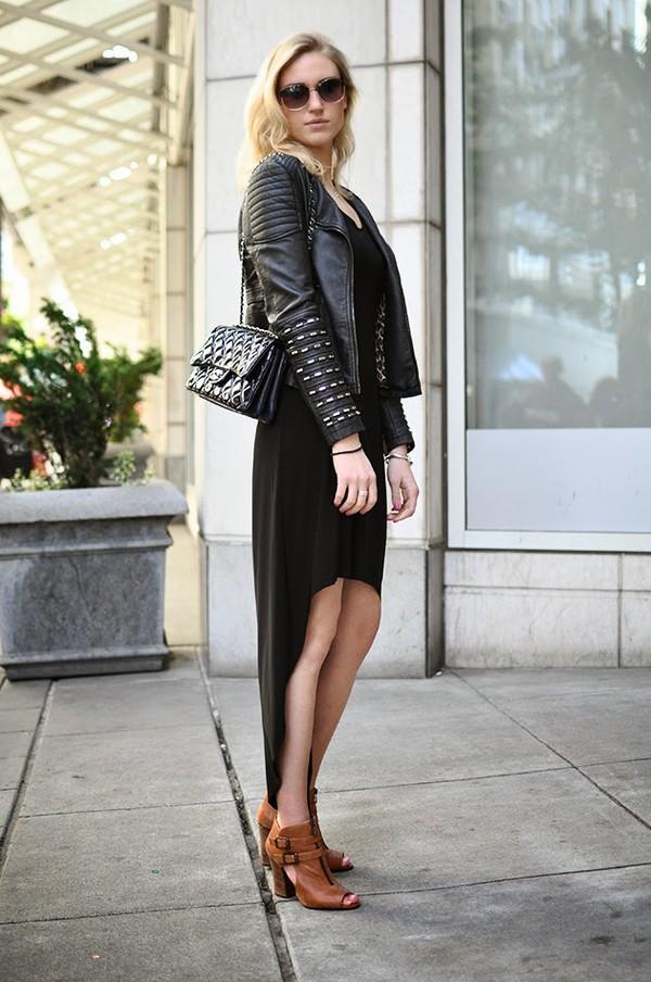 society grl jacket bag dress sunglasses shoes