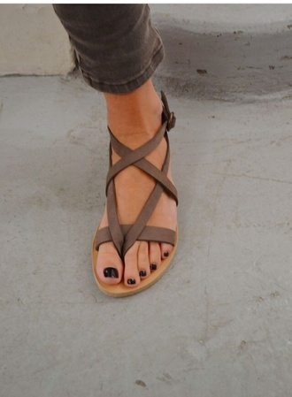 shoes sandals brown shoes brown sandals summer shoes summer leather sandals strappy sandals