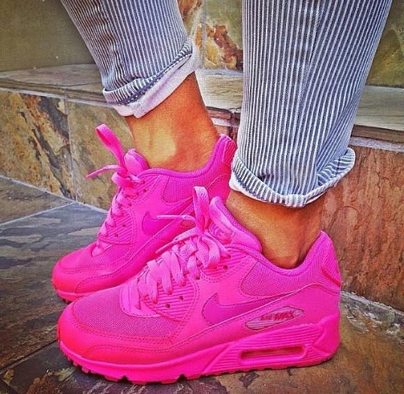 pink shoes air max 90