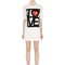 Embroidered love cotton jersey t-shirt