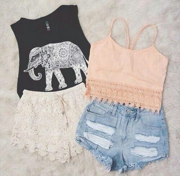 elephant top tank top crop