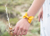 jewels,bow tie,bows,yellow,bracelets,cuff bracelet,bow bracelet