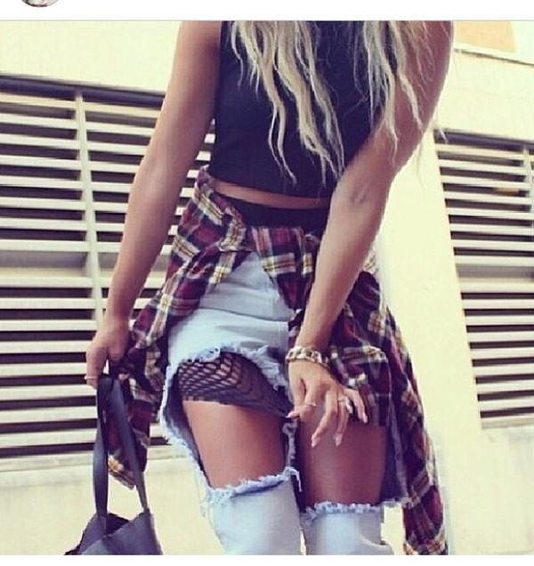 jeans outfit jeans lightblue denim shirt vest