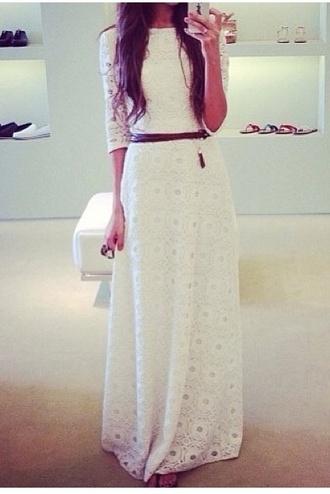 dress crochet lace maxi dress white sleeves crochet maxi dress lace dress jacket white lacey dress white dress