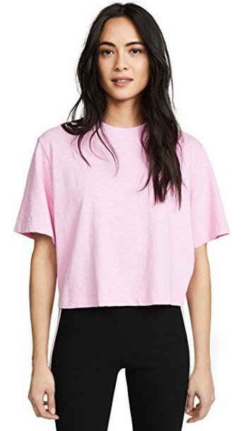 Cotton Citizen crop tee light pink light pink top