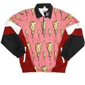 jacket,windbreaker,pizza,thugave,pink,giveaways,vintage