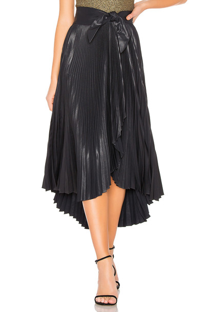 A.L.C. Eleanor Leather Skirt in black
