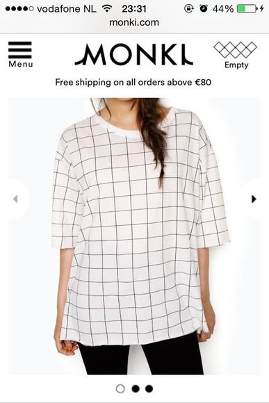 stripes t-shirt squares monki