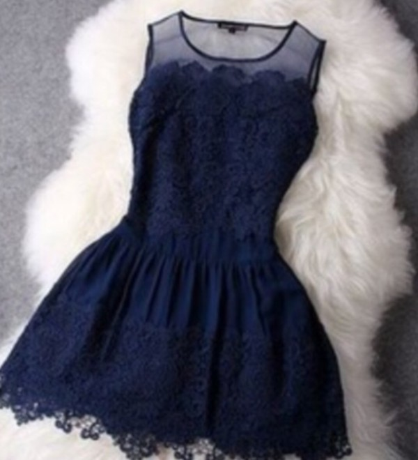 dress navy prom dress