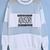 White Contrast Sheer Mesh Yoke Letters Print Sweatshirt - Sheinside.com