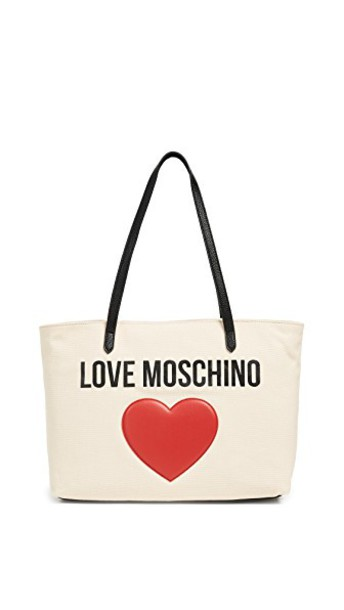 Moschino love white black red bag