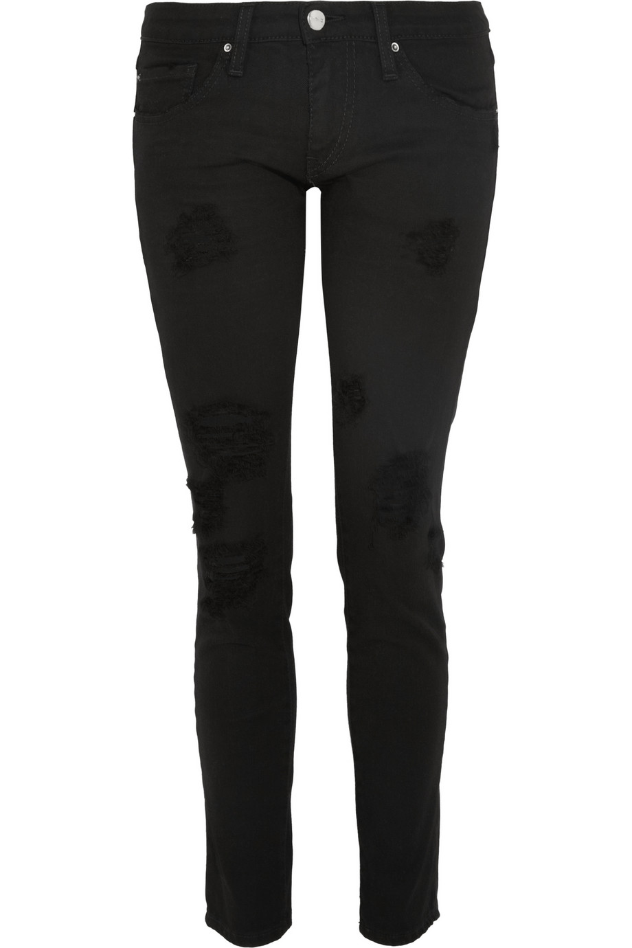 Rudolf distressed low-rise skinny jeans   IRO   THE OUTNET