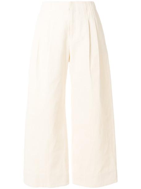 NOMIA pleated women nude cotton pants