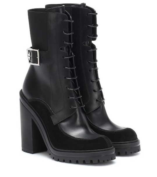 Givenchy Leather and suede ankle boots in black