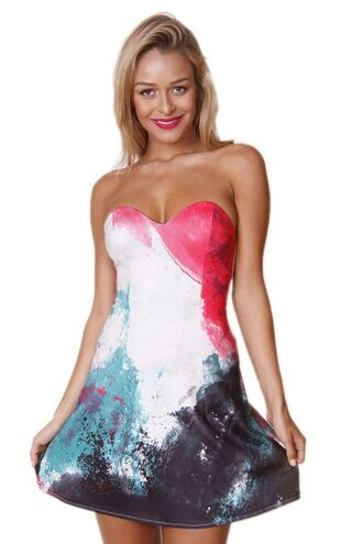www.ustrendy.com sweetheart dress party dress bustier dress detachable straps red white and blue patriotic dress