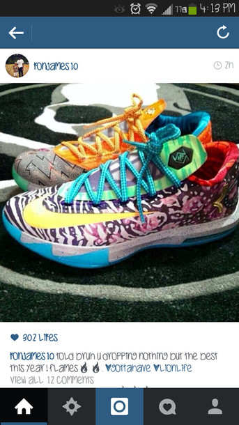 shoes colorful nikes kds kevin durant