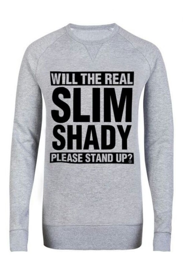 sweater grey sweater eminem slim shady