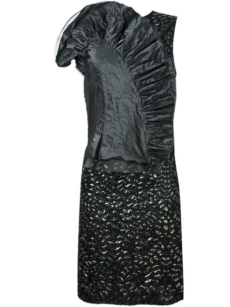 MAISON MARGIELA dress shift dress women black silk