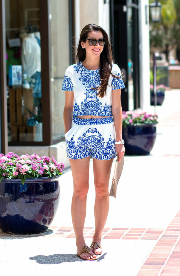 diary of a debutante blogger top shorts shoes bag sunglasses jewels romper clutch flats flat sandals summer outfits