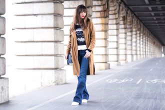 meet me in paree blogger sweater jeans coat shoes bag