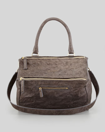 Givenchy Pandora Medium Old Pepe Satchel Bag, Charcoal - Bergdorf Goodman