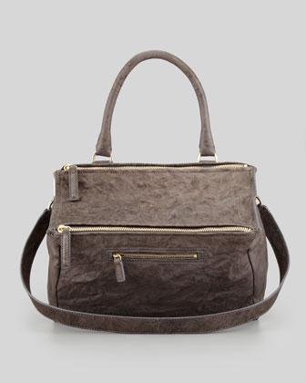 Givenchy Pandora Medium Old Pepe Satchel Bag, Charcoal - Bergdorf Goodman