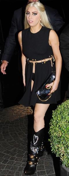 dress black black dress mini dress