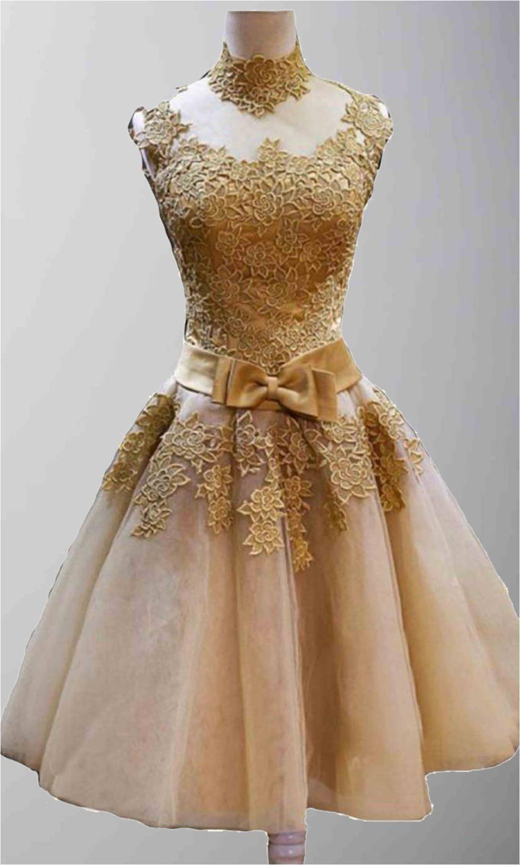 Golden Vintage Princess High Neck Short Prom Dresses KSP320 [KSP320] - £117.00 : Cheap Prom Dresses Uk, Bridesmaid Dresses, 2014 Prom & Evening Dresses, Look for cheap elegant prom dresses 2014, cocktail gowns, or dresses for special occasions? kissprom.co.uk offers various bridesmaid dresses, evening dress, free shipping to UK etc.